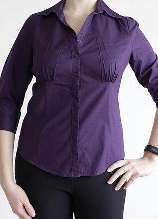 Kaufe meinen Artikel bei #Kleiderkreisel http://www.kleiderkreisel.de/damenmode/blusen/126360624-lila-business-bluse-von-ca
