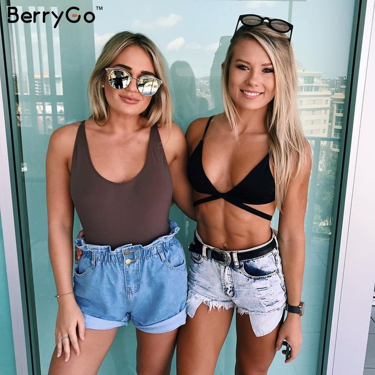 BerryGo случайный синий хемминг кнопки джинсовые шорты женские летние пляжные черные шорты джинсы женские 2017 карман высокая талия шорты