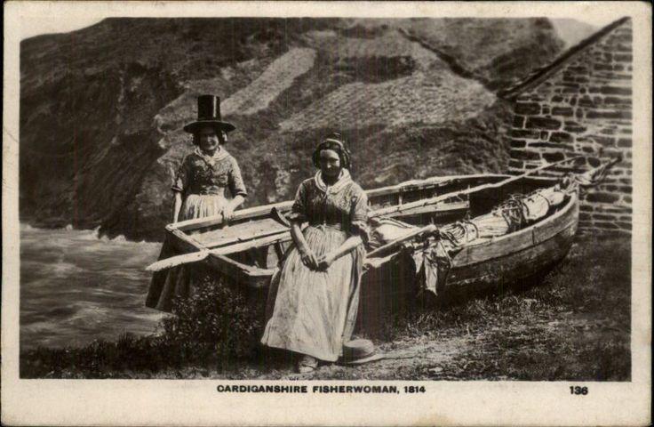Wales Cardiganshire Fisherwoman 1814 Welsh Clothing Old Real Photo Postcard | eBay