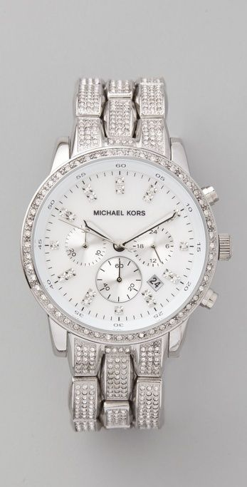 Michael Kors Showstopper Glitz Chronograph Watch thestylecure.com