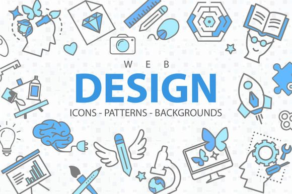 Web Design: Icons, Patterns and More by Art of Spirit on @creativemarket