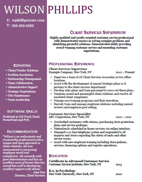 Resume Resume Templates Word Customer Service 10 best resume templates that get results images on pinterest beautifully designed and customizable template keyword optimized for customer service professionals download