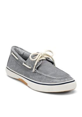 Sperry Men's Halyard Salt Washed Sneaker - Gray - 10.5M