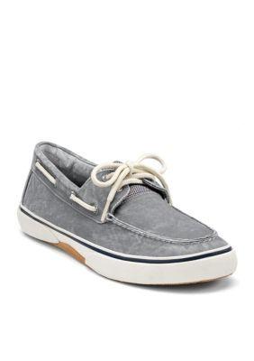 Sperry Grey Halyard Salt Washed Sneaker