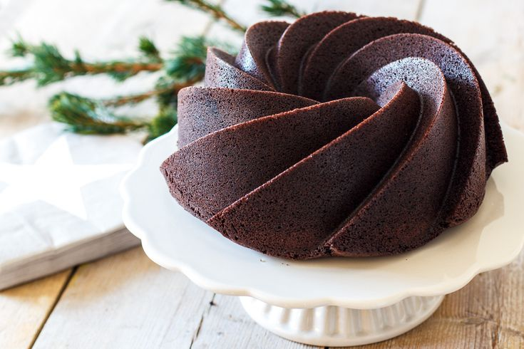 Een perfecte kerstcreatie: Lactosevrije chocoladetulband met salted caramel. - Zoetrecepten