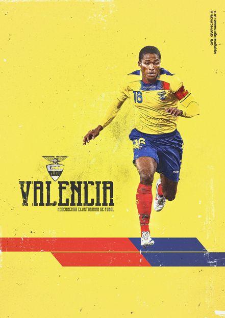 Valencia, Ecuador / Ecuator - Mundial Brasil 2014 - Brazil World Cup 2014. KEY PLAYERS by Giuseppe Vecchio Barbieri