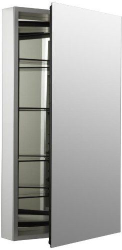 Kohler K-2936-PG-SAA Catalan Mirrored Cabinet with 107° Hinge, Satin Anodized Aluminum by Kohler. Save 25 Off!. $364.58. Amazon.com                    The flexible Catalan mirrored bathroom cabinet with frameless, transitional design (20-inch, 170-degree K-2939-PG model shown; view larger).  Displaying a timeless style that complements any decor, Kohler's Catalan mirrored cabinet is designed for versatility and maximum utility in your bathroom. It features a tall, frameless glass mirror…