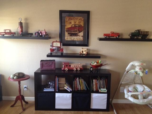 My baby's nursery. Vintage Trucks.