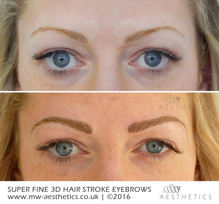 super fine 3d hair stroke eyebrows | permanent make-up ...