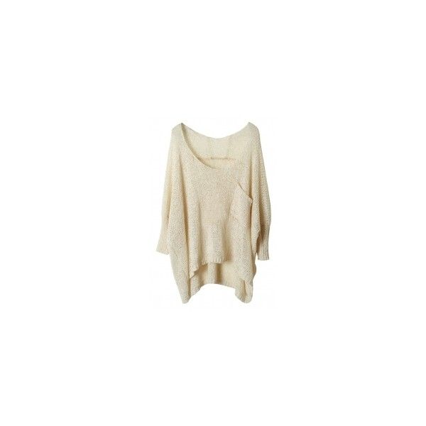 Batwing Sleeve High-Low Sweater OASAP.COM ($20) ❤ liked on Polyvore featuring tops, sweaters, shirts, brown shirt, brown sweater, women sweaters, long length t shirts and henley shirt
