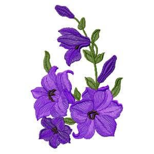 "Embroidery  design ""Purple flowers"""