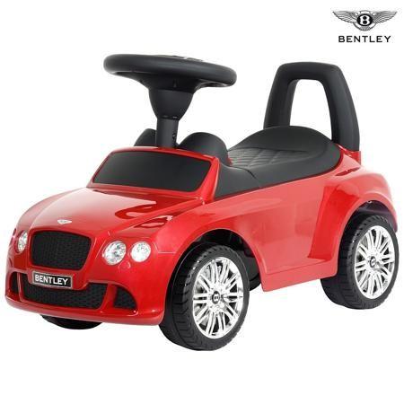 R-Toys Каталка-автомобиль Bentley с музыкой, с 12 мес.  — 3125р.  R-Toys представляет каталку - автомобиль Bentley 326 с музыкой. Катаясь на машинке, ребенок отталкивается ногами от пола. Если покрутить руль, каталка поедет сама. Ее скорость минимальна и безопасна для малыша.    В дизайне машинки-каталки Bentley легко усматриваются детали, характерные для настоящего автомобиля Bentley Continental:  • идентичный дизайн фар  • хромированные логотипы Bentley  • реалистичная решетка на бампере…