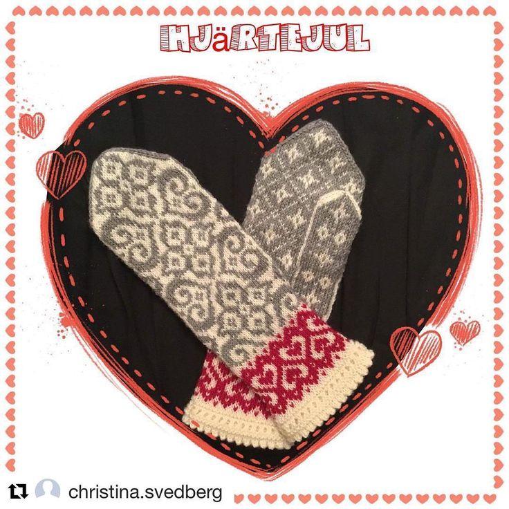 """442 gilla-markeringar, 9 kommentarer - Jenny Alderbrant (@jennypenny1974) på Instagram: """"Mitt nya mönster #hjärtejul här fint stickade av bästa @christina.svedberg ❤️ #lullullavjennypenny…"""""""