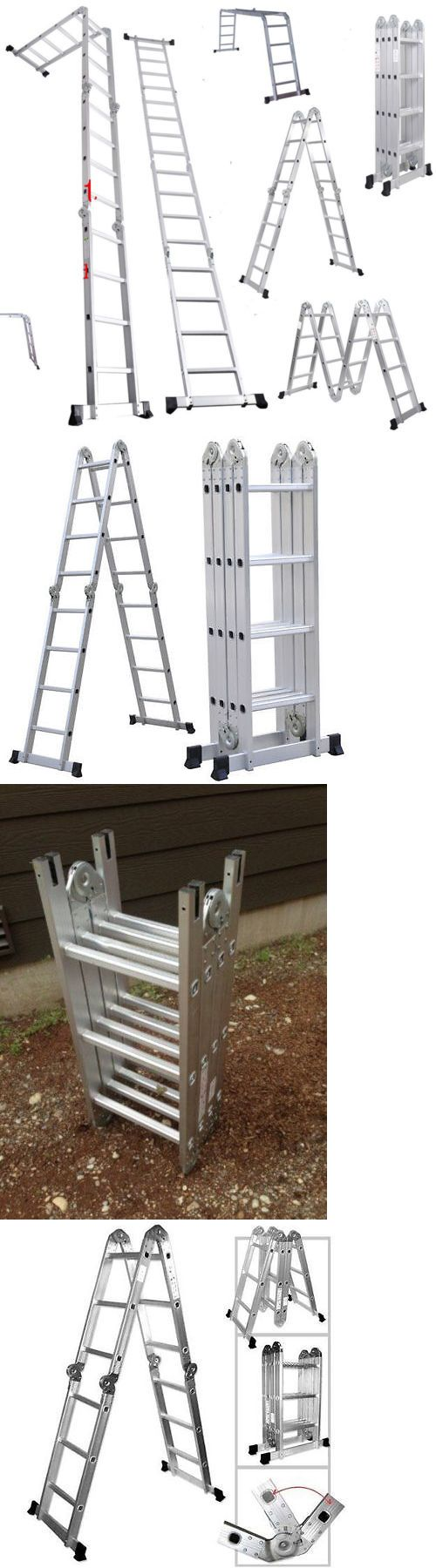 Ladders 112567: New 15.5Ft 16Step Aluminum Multi Purpose Ladder Telescoping Folding Extension -> BUY IT NOW ONLY: $80.99 on eBay!