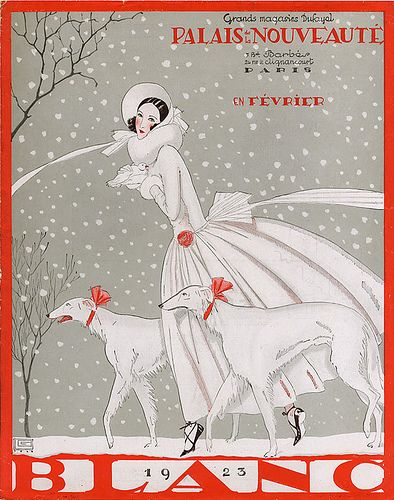 winter fashion ad from the 20s