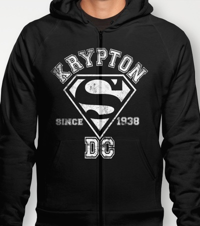 """""""SUPERMAN!"""" men's and women's fitted T's and Hoodies in various colours and sizes available at Society6! HOODIES $38 FITTED T's $22"""