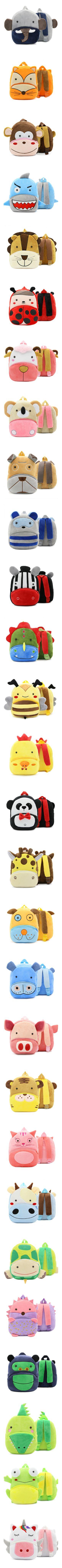 Free Shipping 2018 Plush Children Backpacks Kindergarten Schoolbag 3D Cartoon Monkey Animal Kids Backpack Children School Bags for Girls Boys