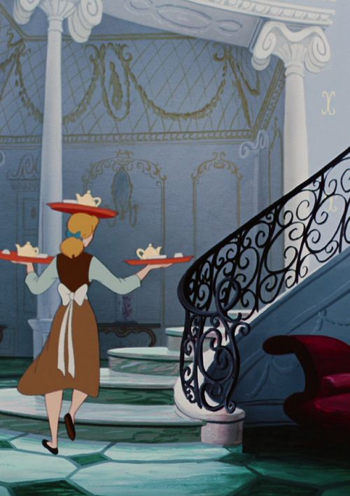 Wait - If Cinderella could balance a tea tray on her head, why did she have so much trouble with the books in the second movie?
