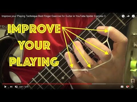 improve your playing technique best finger exercise for guitar in youtube spider exercise 3. Black Bedroom Furniture Sets. Home Design Ideas