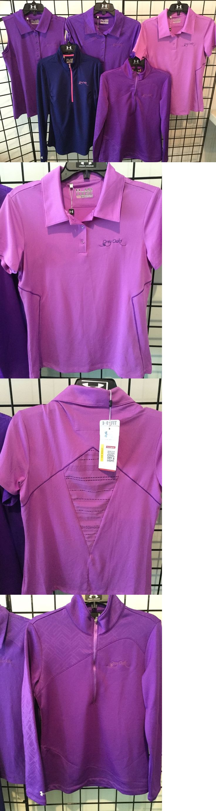 Shirts Tops and Sweaters 181149: Under Armour Entire Lot Of Womens Golf Tops -Nwt-Medium $$ Great Value Purples -> BUY IT NOW ONLY: $55 on eBay!