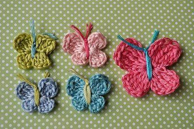 Free Little Birdie Secrets: how to crochet a butterfly