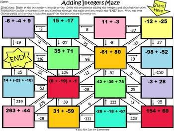 math maze template