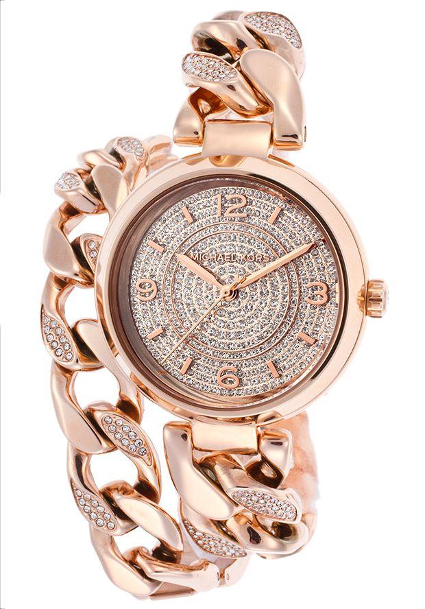 Michael Kors Women\u0027s Ellie Rose-Tone Steel and Dial Crystal AccentsMichael  Kors MK3267 Watch. Handbags ...