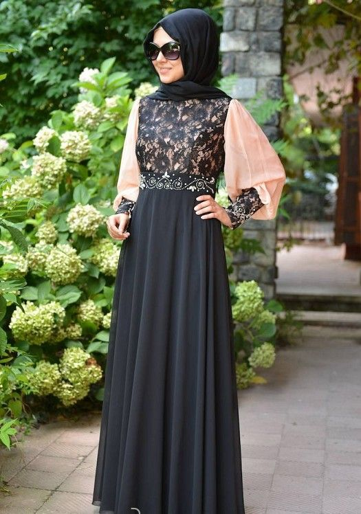 Chiffon evening dresses christmas gift ideas and hijab dress