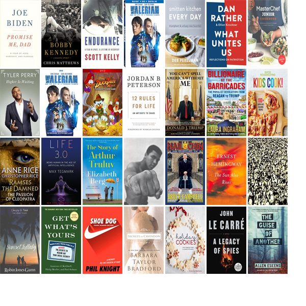"""Saturday, November 25, 2017: The Hussey-Mayfield Memorial Public Library has 16 new bestsellers, five new movies, 11 new audiobooks, two new music CDs, 32 new children's books, and 82 other new books.   The new titles this week include """"Promise Me, Dad: A Year of Hope, Hardship, and Purpose,"""" """"Bobby Kennedy: A Raging Spirit,"""" and """"Endurance: My Year in Space, A Lifetime of Discovery."""""""