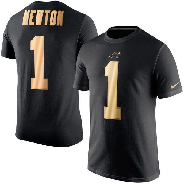 Nike NFL Ravens Cam Newton Carolina Panthers Nike Gold Collection Name and  Number T-Shirt - Black Nike NFL Baltimore ... c5278f17d