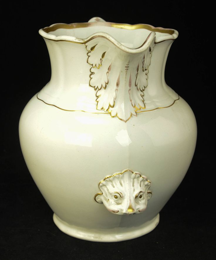For your consideration is this antique victorian porcelain water pitcher bath vase from late 1800s to