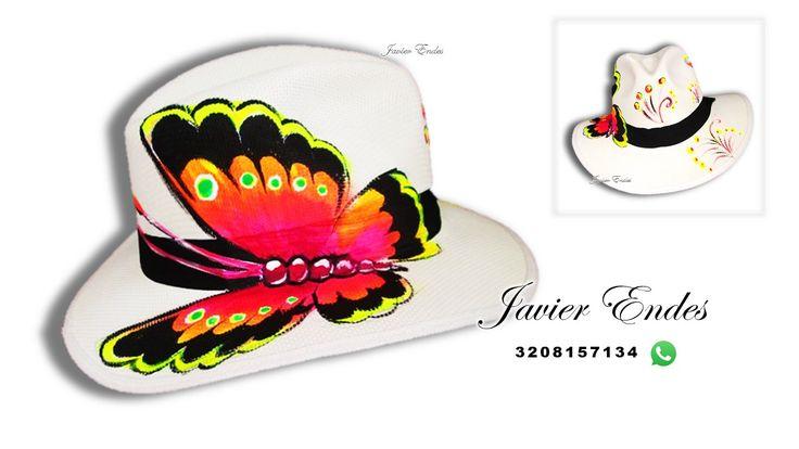sombreros pintados a mano javier endes/ artesania