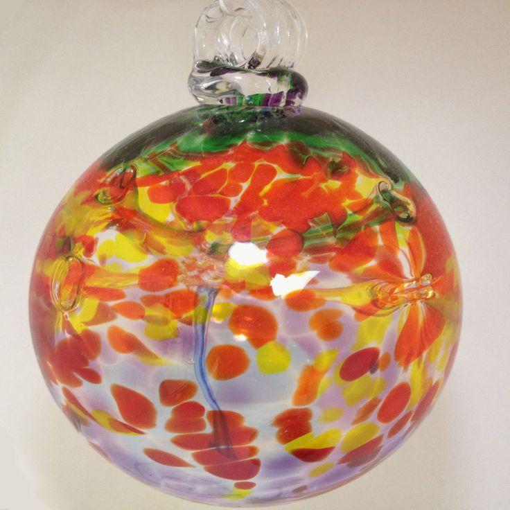 Glass chakra ball designed with all seven colors to