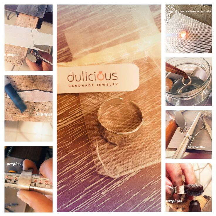 This is how a handmade silver ring is made. See all the steps of the way! https://www.etsy.com/shop/DuliciousJewelry?ref=search_shop_redirect