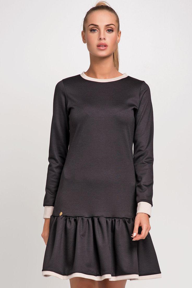 Makadamia M256 Sukienka - czarny