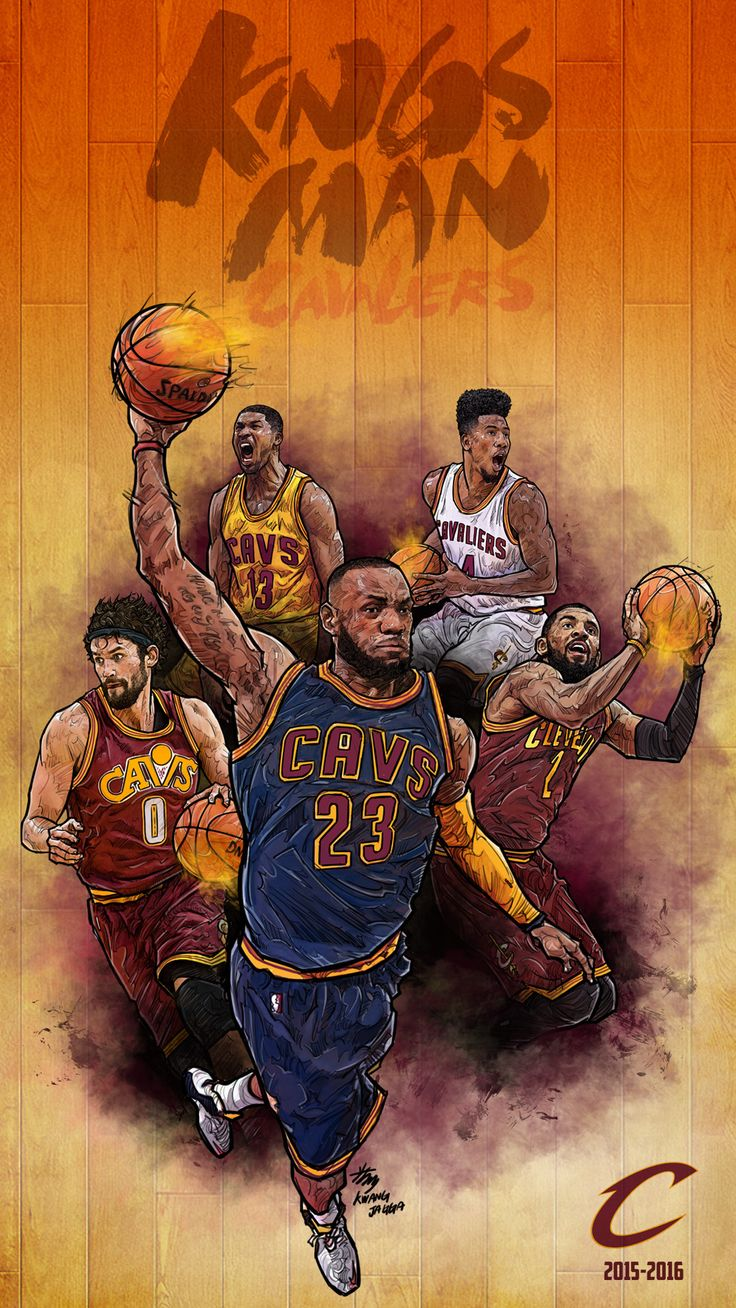 NBA Phone Wallpaper -  Artist: Kim MinSuk (김민석) #Yellowmenace #basketballart #ClevelandCavaliers #Lebron + http://yellowmenace8.blogspot.com/2015/04/art-minsuk-kim-nba-2014-15-season-in.html
