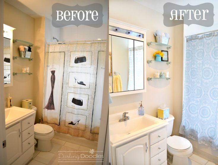 Mini Bathroom Makover Before And After Bath Pinterest Decorating Bathroom Designs And