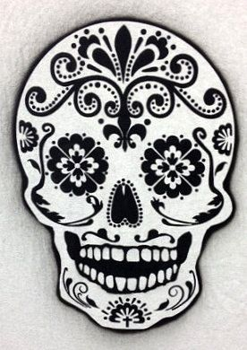 Day of the death sugar skull stencil. For airbrush, brush painting. 12 tall any other sizes possible