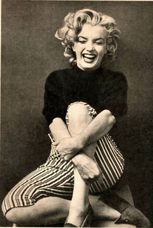 Marilyn Monroe :) ... i love when people have laughter lines, you know they have been happy!