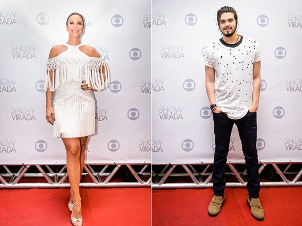 Ivete Sangalo e Luan Santana se apresentam no Show da Virada (Foto: Globo)