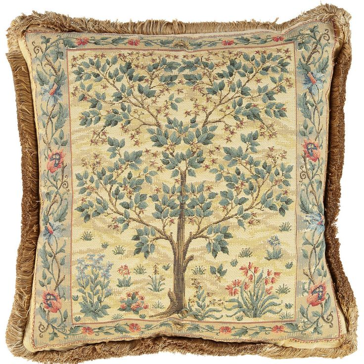 Green & Gold Floral Cushion 45x45cm - Living Room - Home - TK Maxx