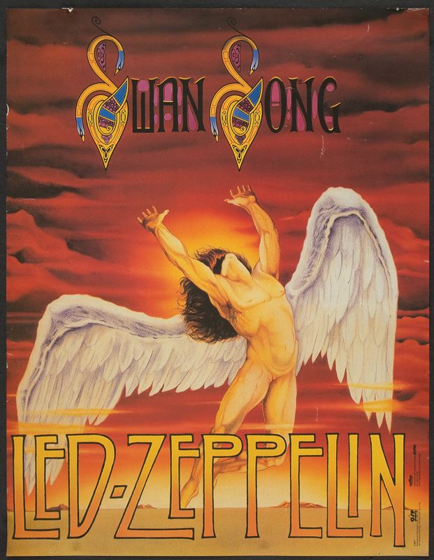 Led Zeppelin Swan Song Poster Led zeppelin poster swan ...