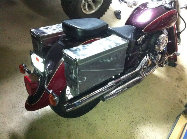 Picture of Ammo Can Motorcycle Saddlebags