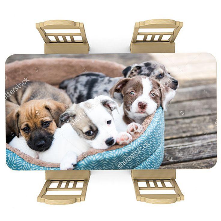 Tafelsticker Puppies | Maak je tafel persoonlijk met een fraaie sticker. De stickers zijn zowel mat als glanzend verkrijgbaar. Geschikt voor binnen EN buiten! #tafel #sticker #tafelsticker #uniek #persoonlijk #interieur #huisdecoratie #diy #persoonlijk #puppies #puppy #hond #honden #hondjes #mand #lief #schattig #meisjeskamer #meidenkamer