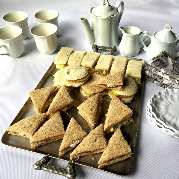 This Downton Abbey review is of Highclere Castle with Lady Carnavon, and a delightful Egg Salad Tea Sandwiches recipe!