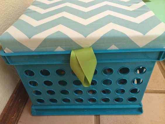 The Apple Tree Room: Classroom Overhaul -- Step 4: Make Milk Crate Seats