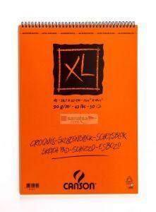 Canson XL Croquis Krem Eskiz Defteri Üstten Spiralli A3 50 Sayfa