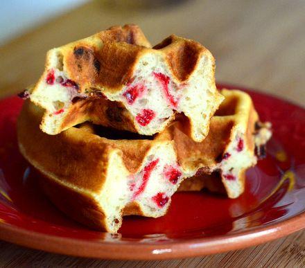 Strawberry Belgian Waffles | Baking Bites