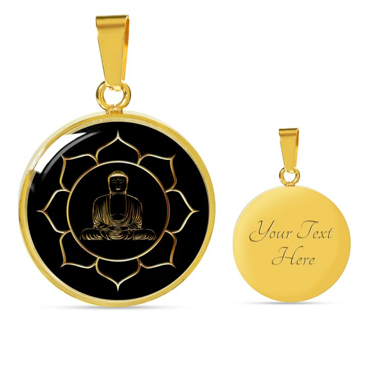 Gautama Buddha in Lotus Setting, Gift for Inspiration, Meditation Gift  Engrave your personal message on the back.