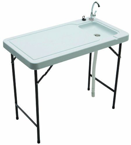 Tricam MT-2 Outdoor Fish and Game Cleaning Table, 150-Pound Load Capacity Tricam http://smile.amazon.com/dp/B00GI0RF0Y/ref=cm_sw_r_pi_dp_Ut8.tb1KX2D9Z